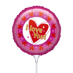 Μπαλόνι με καλαμάκι I Love You