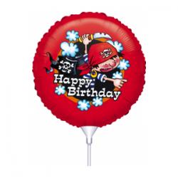Μπαλόνι με καλαμάκι Πειρατής Happy Birthday