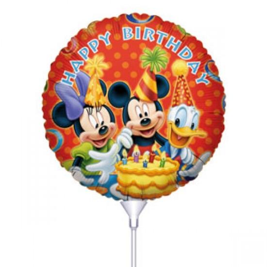 Μπαλόνι με καλαμάκι Mickey Happy Birthday