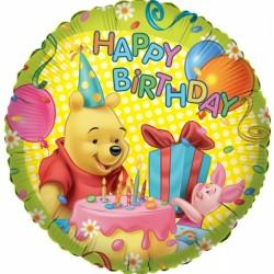 """18"""" στρογγυλό  Winnie Happy Birthday"""
