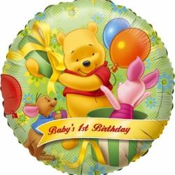 """18"""" στρογγυλό 1st Birthday Winnie"""
