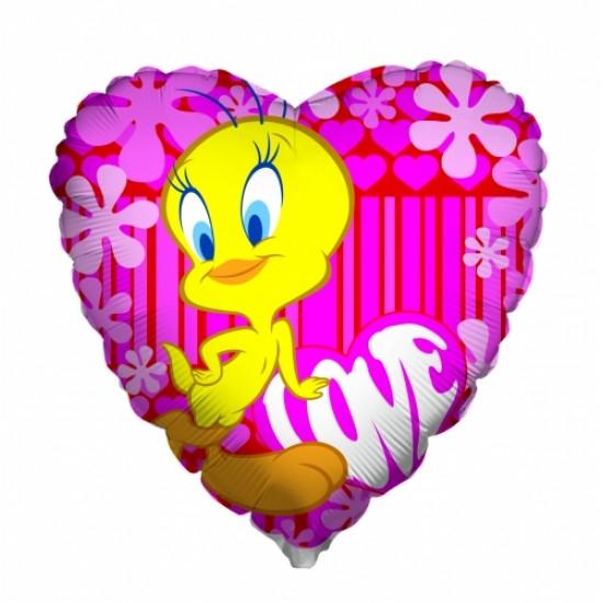 """18""""  Tweety Καρδιά Ροζ"""