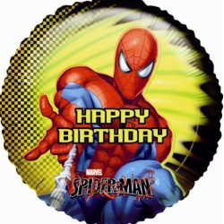 "18"" στρογγυλό Happy Birthday Spiderman"