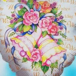 """18"""" καρδιά Wedding Wishes"""