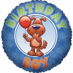 """18"""" στρογγυλό Happy Birthday Boy"""