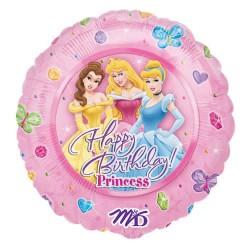 """18"""" στρογγυλό Happy Birthday Princess"""