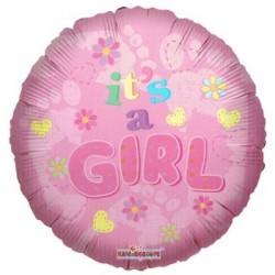 """18"""" στρογγυλό It's a Girl - flowers"""