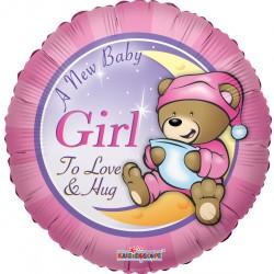 """18"""" στρογγυλό  New Baby Girl"""