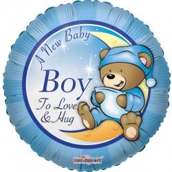 """18"""" στρογγυλό  New Baby Boy"""
