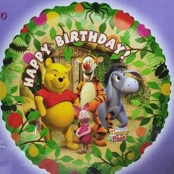 """18"""" στρογγυλό Happy Birthday Winnie"""