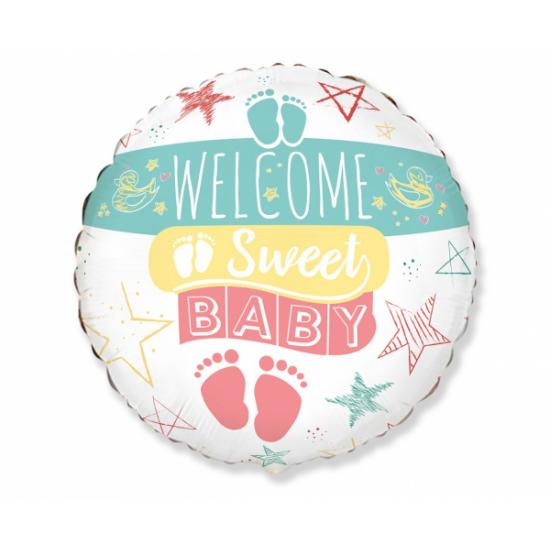 """18"""" στρογγυλό  Welcome Sweet Baby"""