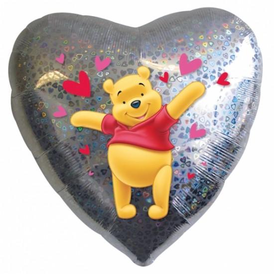 "18""   Winnie Καρδιά Ασημί"