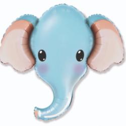 "32"" foil Ελέφαντας κεφάλι Μπλέ"