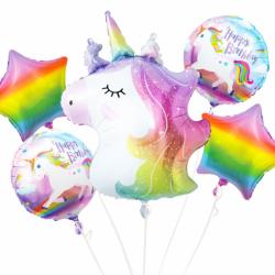 """Σετ Μπαλόνια Foil  18"""" Μονόκερος - Unicorn"""