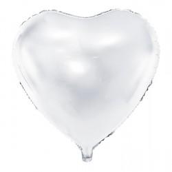 """24"""" foil Καρδιά  Λευκή"""
