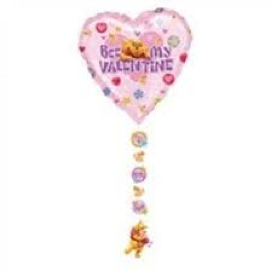 "34"" Foil Καρδιά Winnie Bee my Valentine"