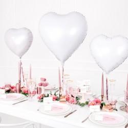 """18"""" foil Καρδιά Λευκή"""