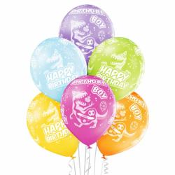 Μπαλόνια latex δεινόσαυρος Birthday Boy (6τμχ)
