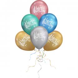 Happy Birthday Latex Chrome (1τμχ)