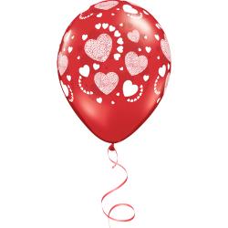 Love Hearts Latex Κόκκινο Μπαλόνι (1τμχ)